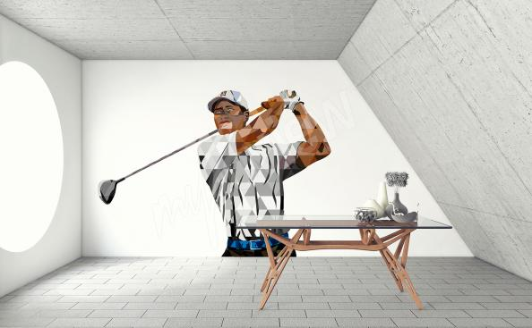 Naklejka golf Tiger Woods