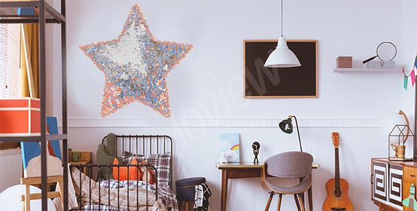 Naklejka gwiazda do pokoju dziecka