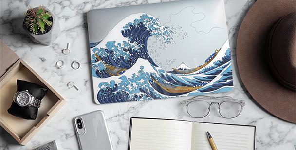 Naklejka Hokusai - Wielka fala