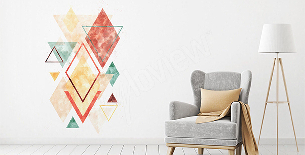 Naklejka kolorowa geometria