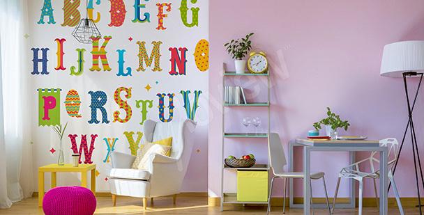 Naklejka kolorowe literki dla dzieci