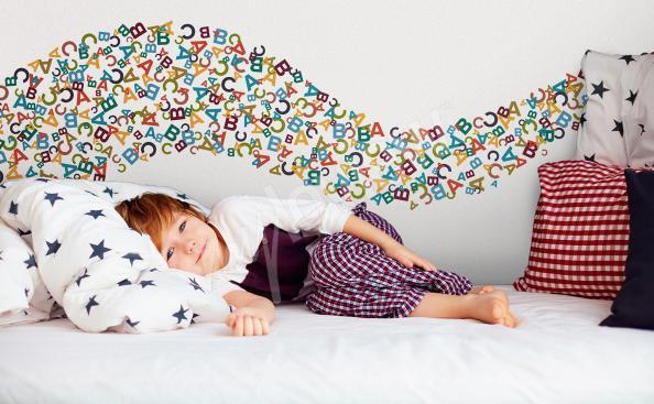 Naklejka kolorowe literki dla dziecka
