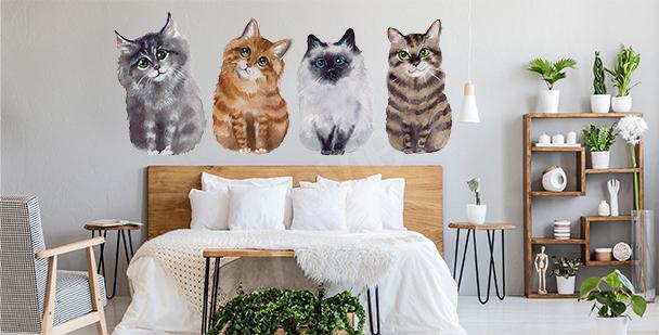 Naklejka koty do sypialni