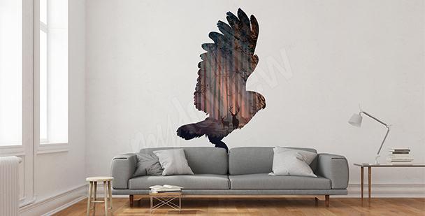 Naklejka lecący ptak