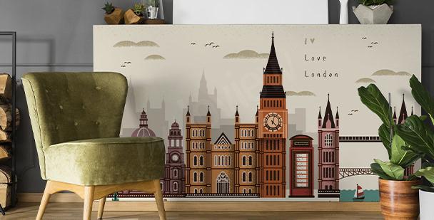 Naklejka Londyn i architektura