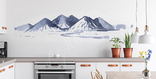 Naklejka malowana akwarelą do kuchni