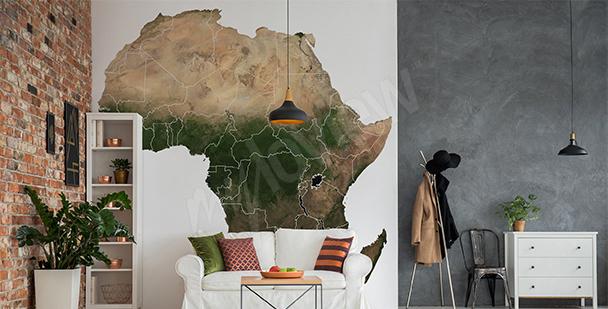 Naklejka mapa Afryki do salonu