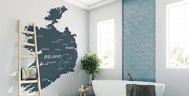 Naklejka mapa polityczna Irlandii