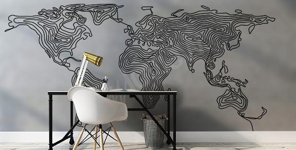 Naklejka mapa świata nowoczesna