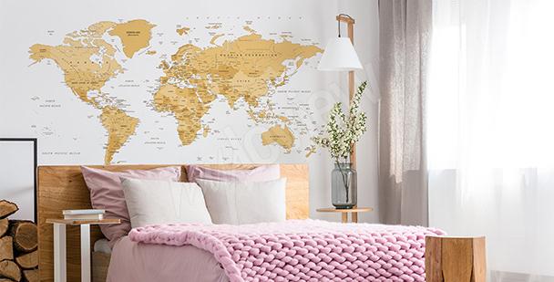 Naklejka mapa w stylu retro