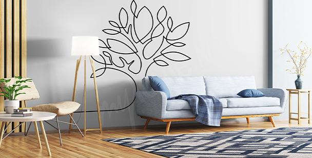 Naklejka minimalistyczne drzewko