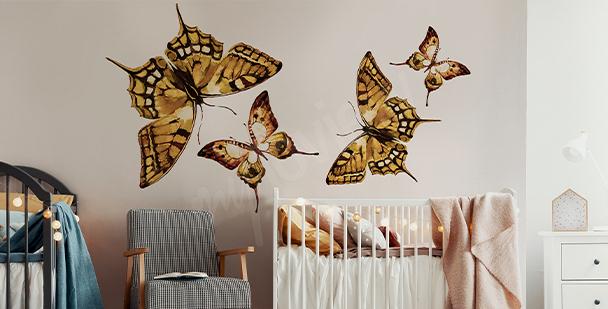 Naklejka motyle do pokoju dziecka