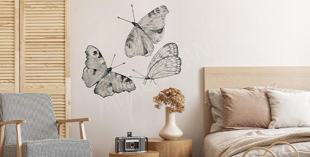 Naklejka motyle do sypialni