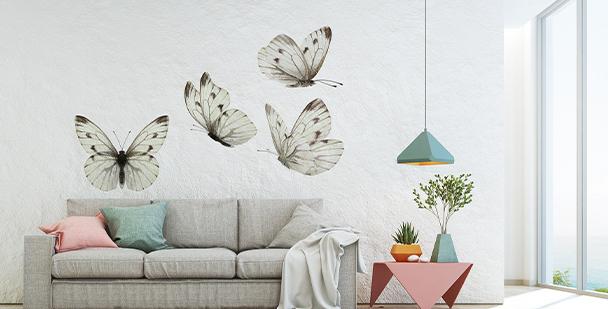 Naklejka motyle w kolorze sepii
