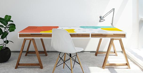 Naklejka na biurko w stylu pop-art