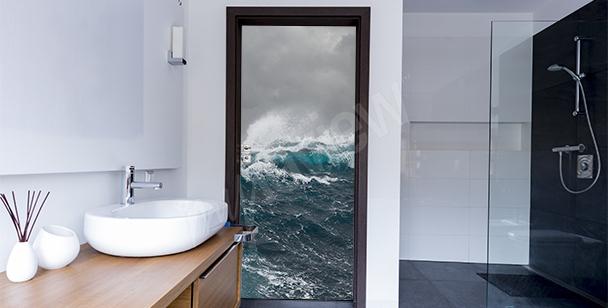 Naklejka na drzwi plaża