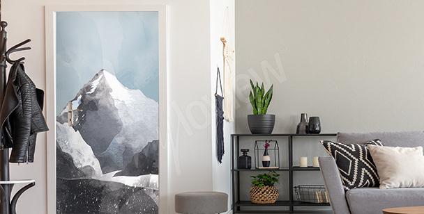 Naklejka na drzwi ze szczytem K2