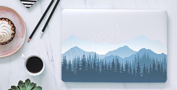 Naklejka na laptopa góry we mgle