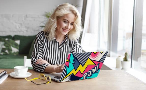 Naklejka na laptopa pop art