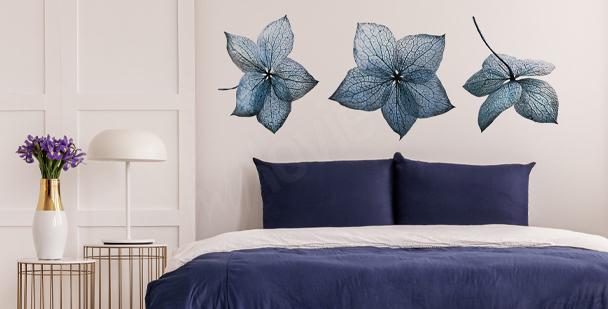 Naklejka niebieska hortensja