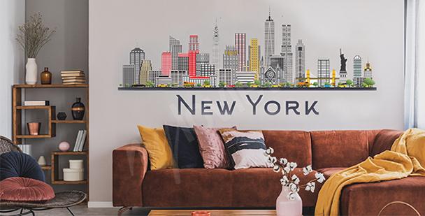 Naklejka Nowy Jork do salonu