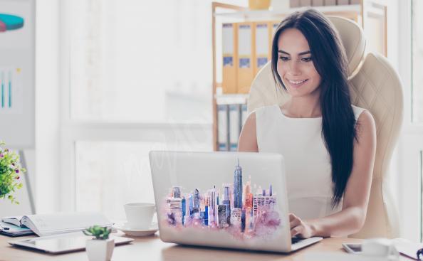 Naklejka Nowy Jork na laptopa
