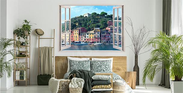 Naklejka okno z widokiem na Portofino