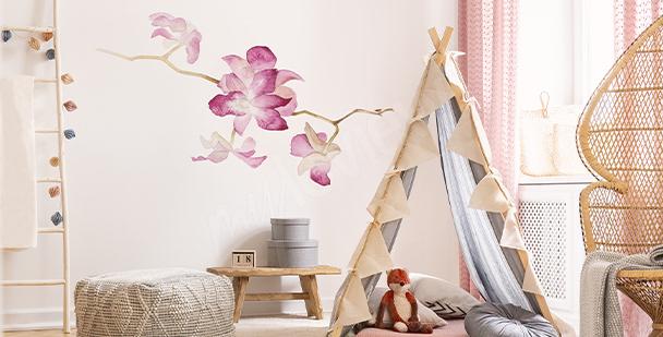 Naklejka orchidea w akwareli
