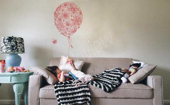 Naklejka ornamentowa w kształcie balonu
