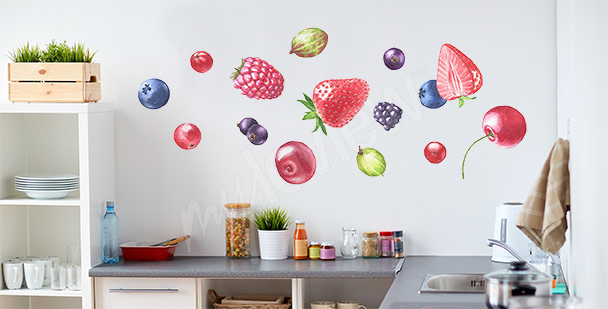 Naklejka owoce do kuchni
