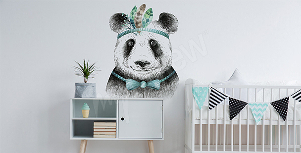 Naklejka panda w stylu boho