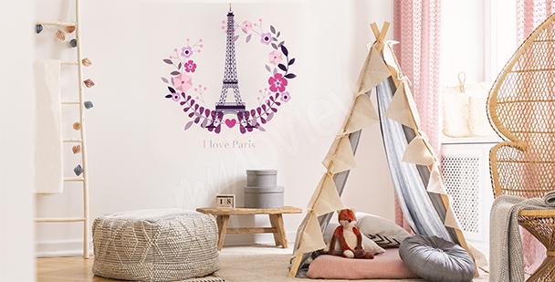 Naklejka Paryż do pokoju dziecka