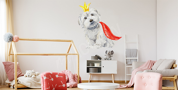 Naklejka pies maltański