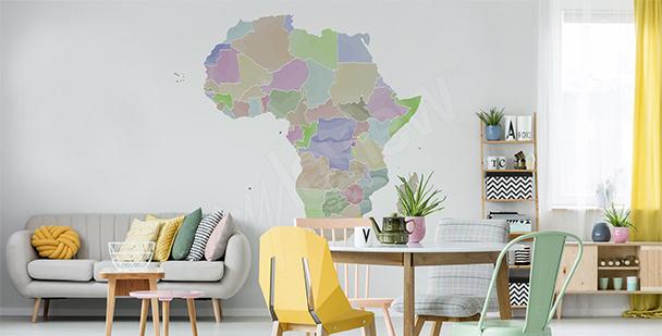 Naklejka podział polityczny Afryki