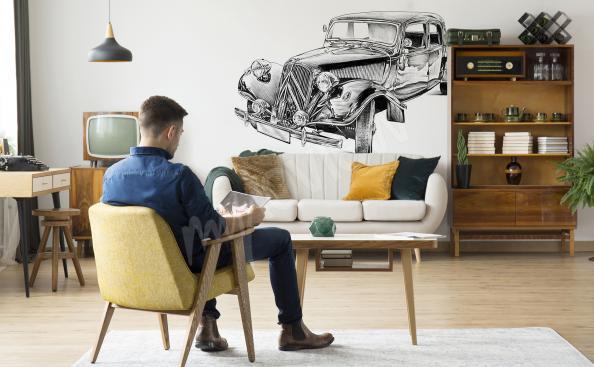 Naklejka pojazd retro