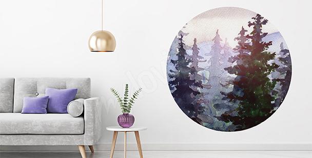 Naklejka przyrodnicza: las