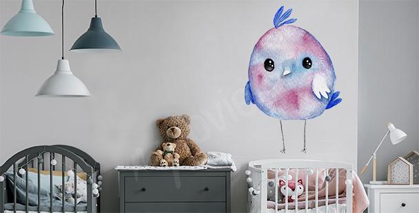 Naklejka ptak do pokoju dziecka