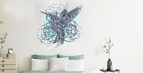 Naklejka ptak do sypialni