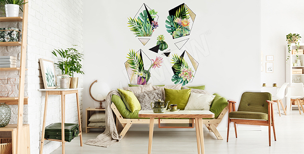 Naklejka rośliny do salonu eko