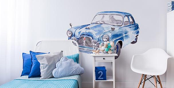 Naklejka samochód malowany akwarelą