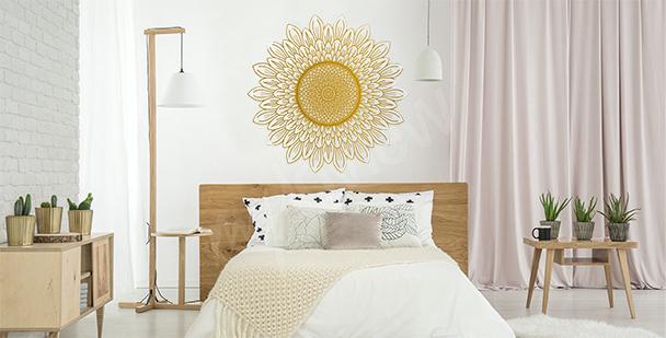 Naklejka słonecznik do sypialni