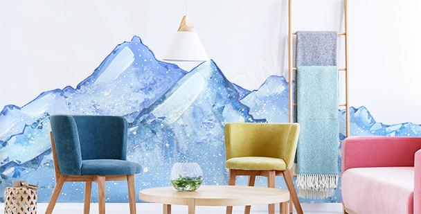 Naklejka śnieżny krajobraz