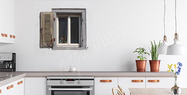 Naklejka stare okno