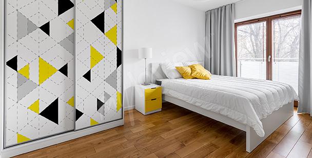 Naklejka trójkąty dekoracyjne na szafę