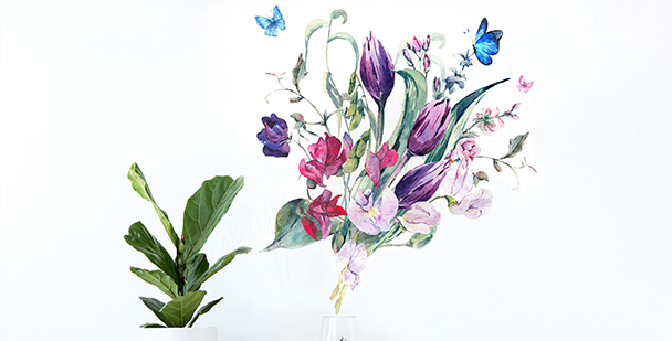 Naklejka tulipany do salonu