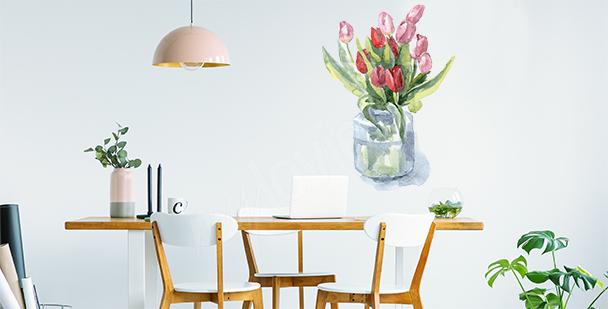 Naklejka tulipany w wazonie