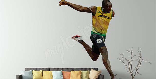 Naklejka Usain Bolt