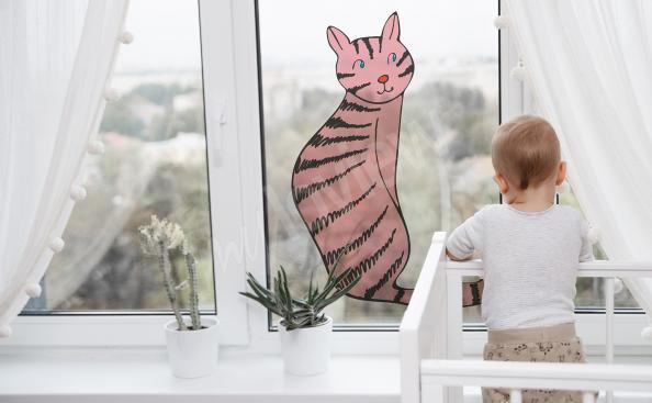 Naklejka witrażowa do pokoju dziecka