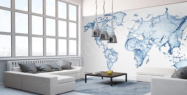 Naklejka wodna mapa świata