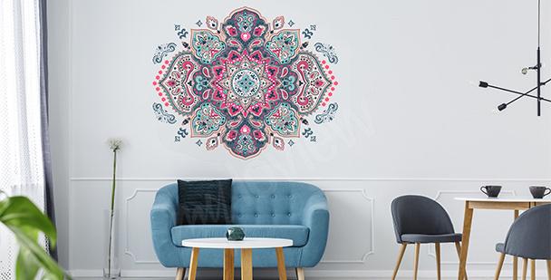 Naklejka z kolorową mandalą